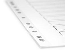 bedrucktes Mylar Register