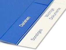 bedrucktes PVC Register