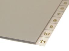 PVC Zahlenregister bedrucken